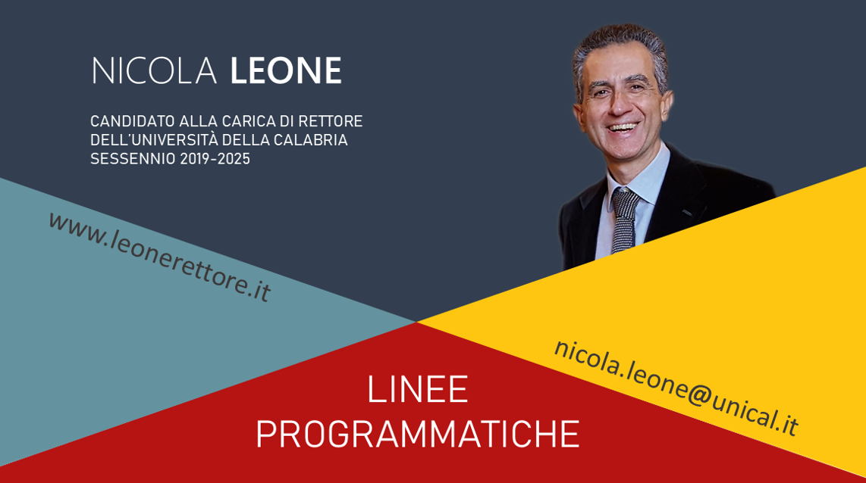 Nicola Leone candidato rettore università della Calabria 2019-2025 UNICAL